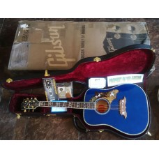 GIBSON ACOUSTIC CUSTOM SHOP DOVE IN FLIGHT TRANSPARENT BLUE