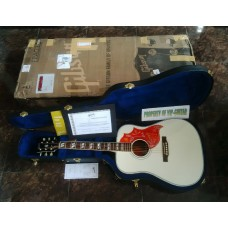 GIBSON ACOUSTIC CUSTOM SHOP HUMMINGBIRD ALL WHITE LIMITED